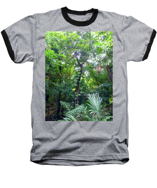 Baseball T-Shirt featuring the photograph Secret Bridge In The Tropical Garden by Francesca Mackenney