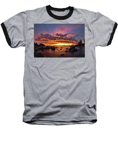 Secret Cove Sunset Baseball T-Shirt