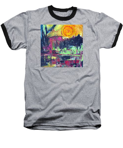 Baseball T-Shirt featuring the painting Secret Garden by Betty Pieper