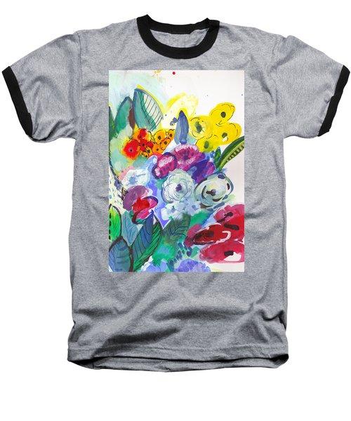 Secret Garden With Wild Flowers Baseball T-Shirt