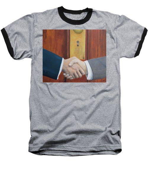 Secret Handshake Baseball T-Shirt