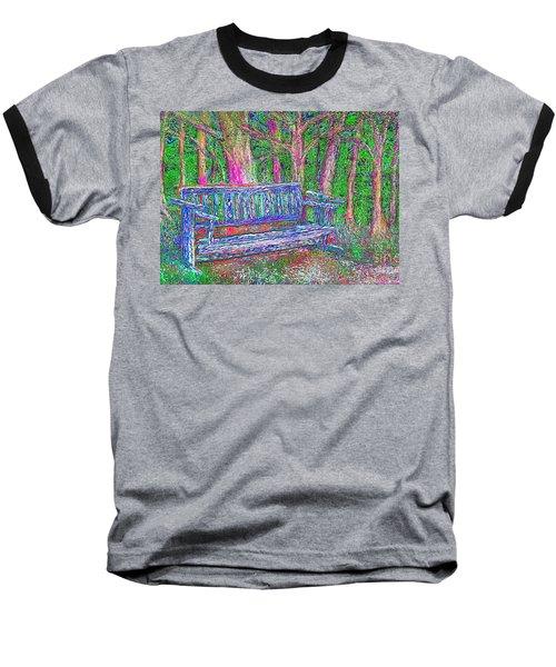Baseball T-Shirt featuring the painting Secret Spot by Hidden Mountain