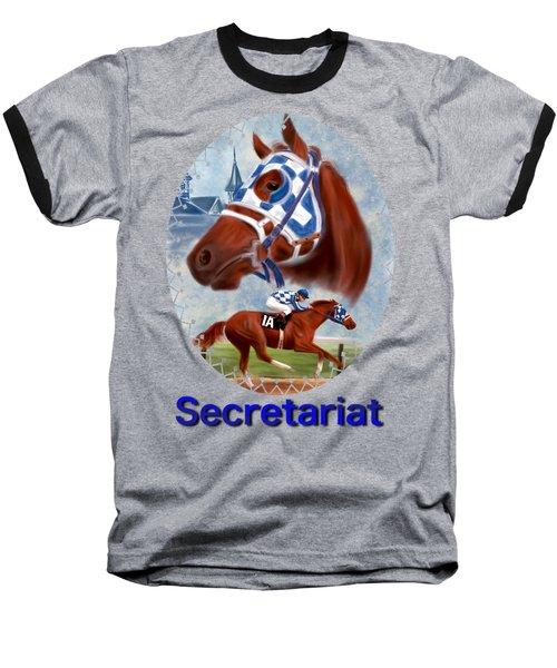 Secretariat Racehorse Portrait Baseball T-Shirt