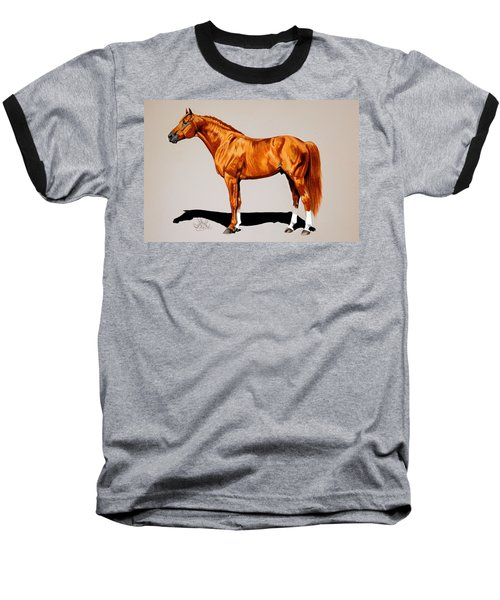 Secretariat - Triple Crown Winner By 31 Lengths Baseball T-Shirt by Cheryl Poland