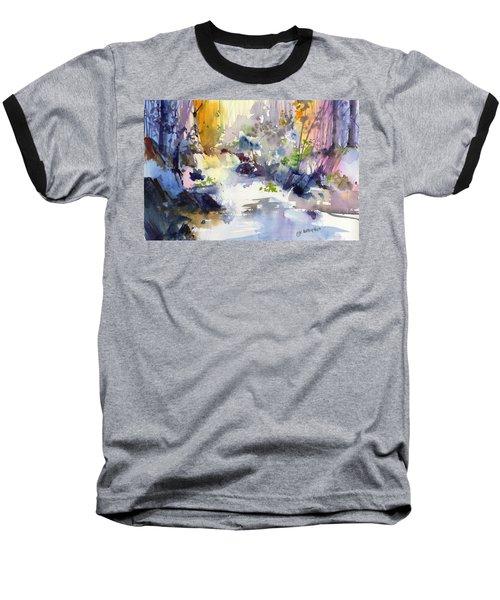 Secret Falls Baseball T-Shirt by P Anthony Visco