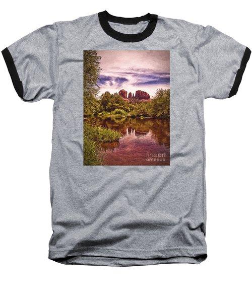 Baseball T-Shirt featuring the photograph Sedona, Arizona  by Chuck Caramella