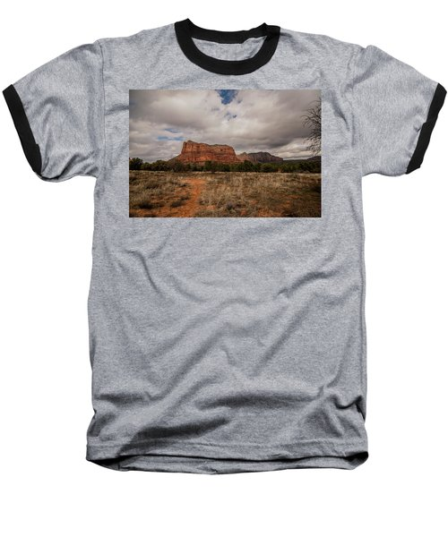 Sedona National Park Arizona Red Rock 2 Baseball T-Shirt by David Haskett