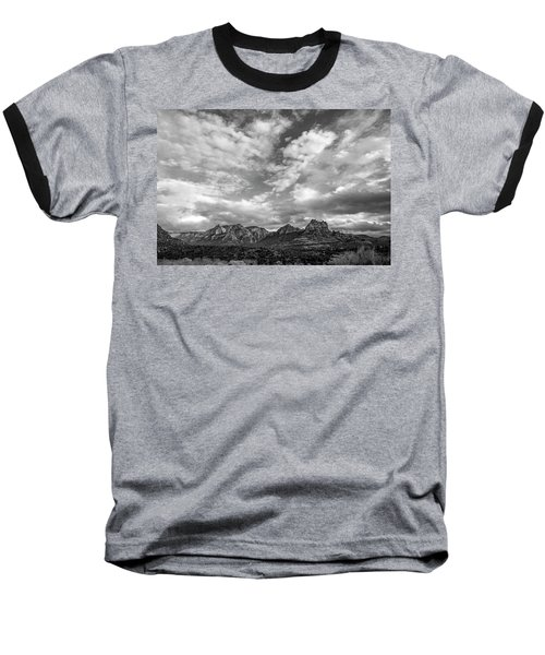 Sedona Red Rock Country Bnw Arizona Landscape 0986 Baseball T-Shirt by David Haskett