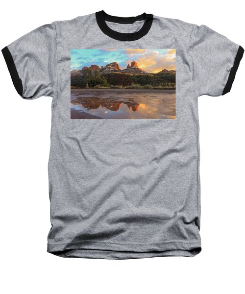 Baseball T-Shirt featuring the photograph Sedona Reflections by Robert Aycock