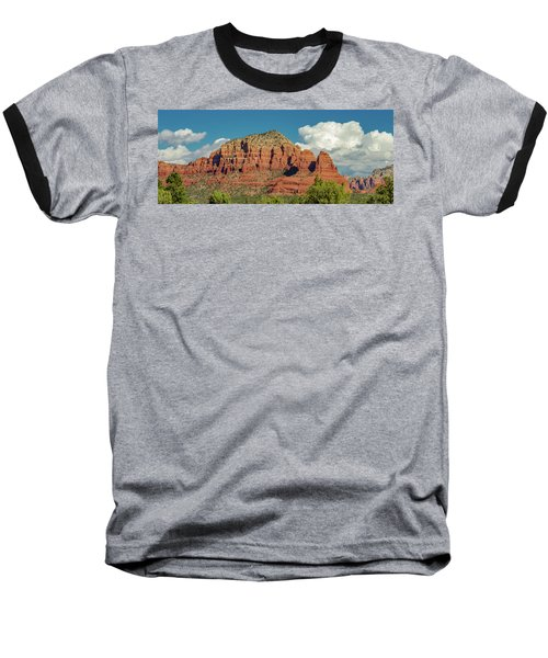 Baseball T-Shirt featuring the photograph Sedona, Rocks And Clouds by Bill Gallagher