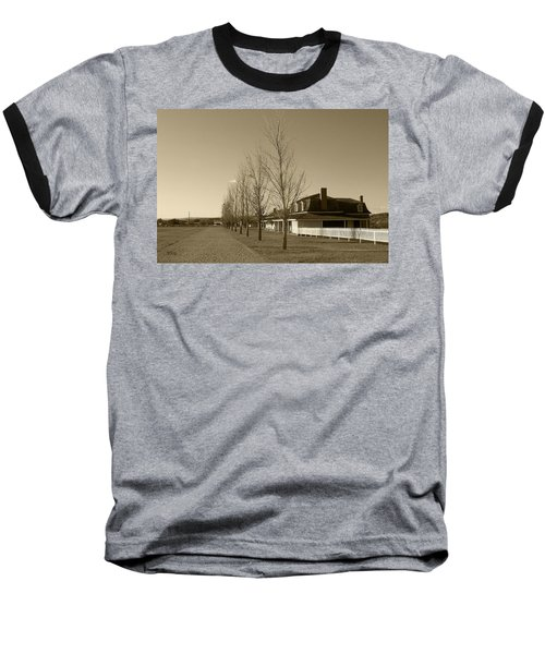 Baseball T-Shirt featuring the photograph Sedona Series - Alley by Ben and Raisa Gertsberg