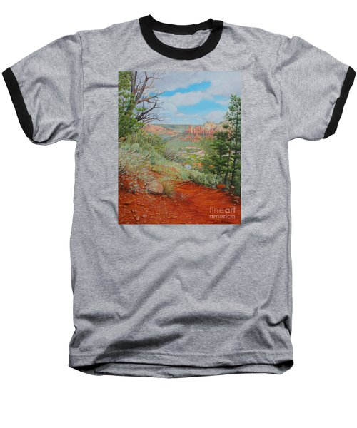 Baseball T-Shirt featuring the painting Sedona Trail by Mike Ivey