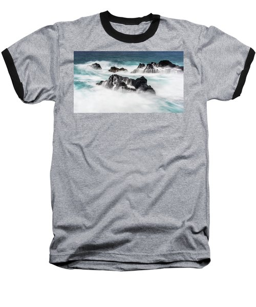 Baseball T-Shirt featuring the photograph Seduced By Waves by Jon Glaser