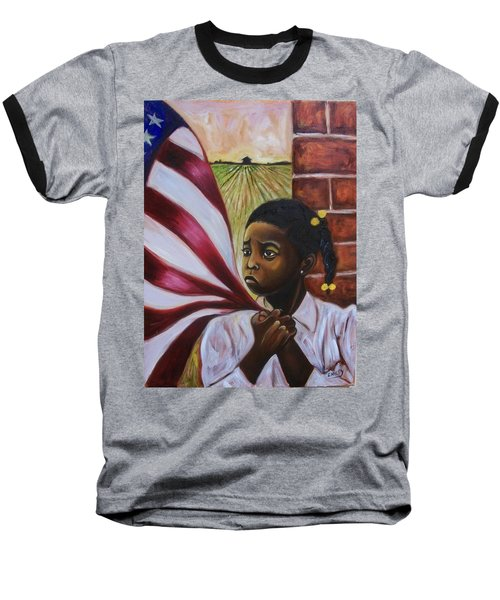Baseball T-Shirt featuring the painting See Yourself by Emery Franklin