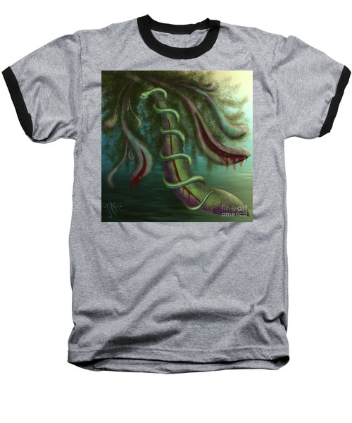 Seed Constrictor Baseball T-Shirt by Rosa Cobos