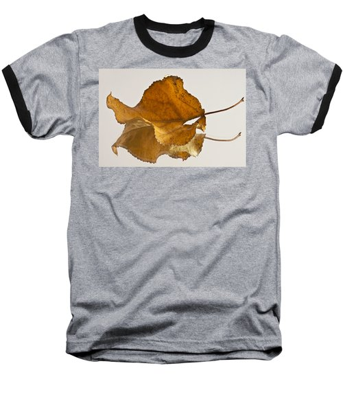 Seeing Double Autumn Leaf  Baseball T-Shirt by Sandra Foster
