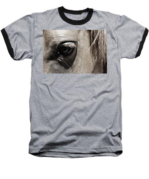 Stillness In The Eye Of A Horse Baseball T-Shirt by Marilyn Hunt