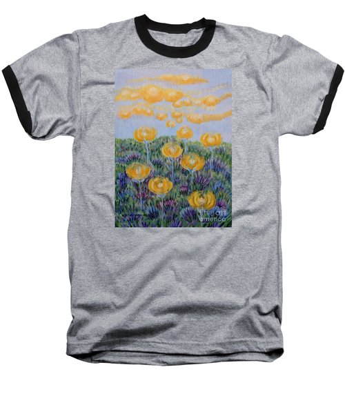 Baseball T-Shirt featuring the painting Seeing Through by Holly Carmichael