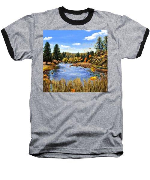 Seeley Montana Fall Baseball T-Shirt by Susan Kinney