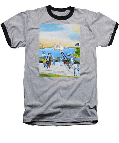 Seige Of Charleston, Sc Baseball T-Shirt by Bill Hubbard