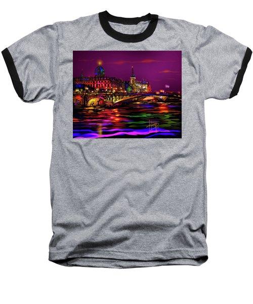 Seine, Paris Baseball T-Shirt by DC Langer