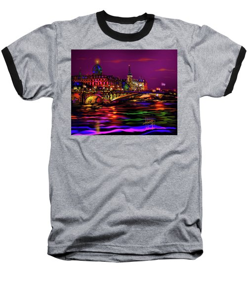 Seine, Paris Baseball T-Shirt