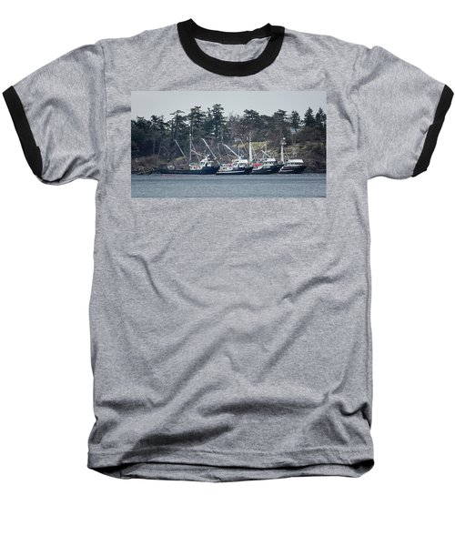 Baseball T-Shirt featuring the photograph Seiners In Nw Bay by Randy Hall