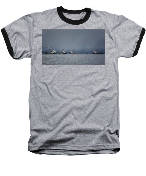 Baseball T-Shirt featuring the photograph Seiners Off Mistaken Island by Randy Hall