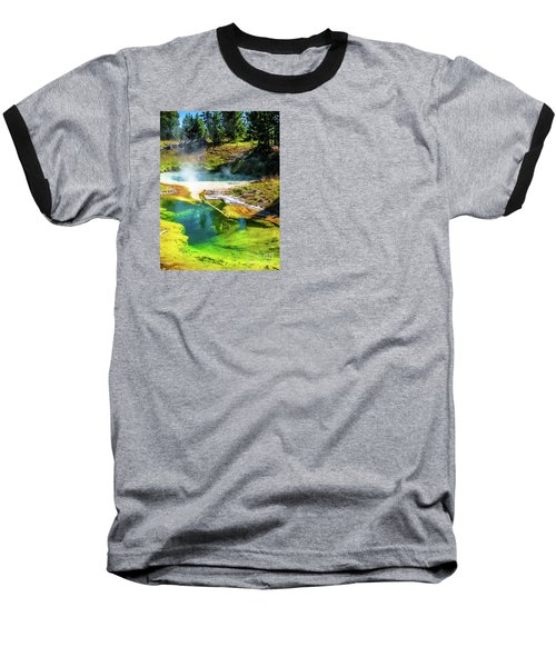 Seismograph Pool In Yellowstone Baseball T-Shirt
