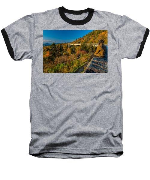 Seize The Day At Linn Cove Viaduct Autumn Baseball T-Shirt