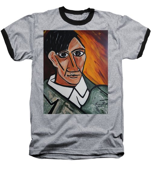 Self Portrait Of Picasso Baseball T-Shirt by Nora Shepley