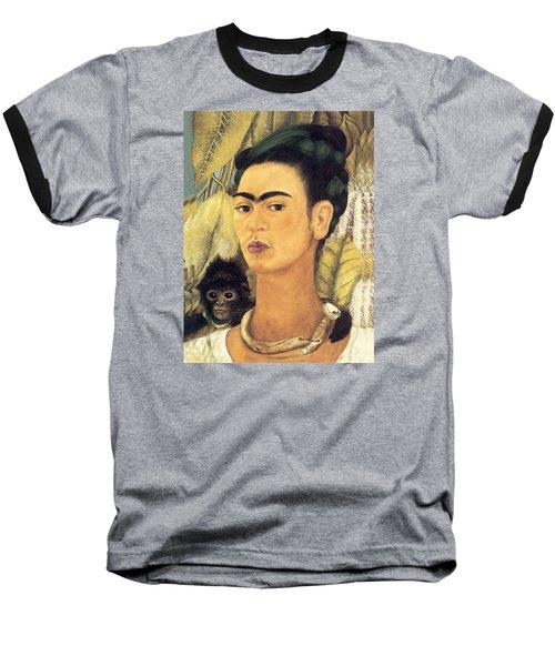 Self Portrait With Monkey  Baseball T-Shirt