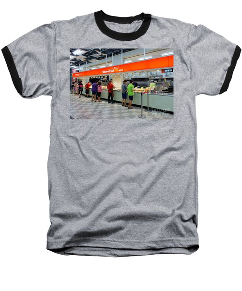 Baseball T-Shirt featuring the photograph Self-service Restaurant On A Sidewalk In Kaohsiung City by Yali Shi