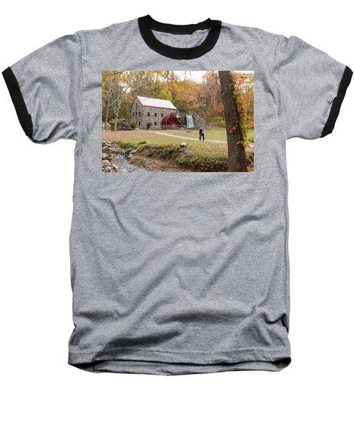 Selfie In Autumn Baseball T-Shirt