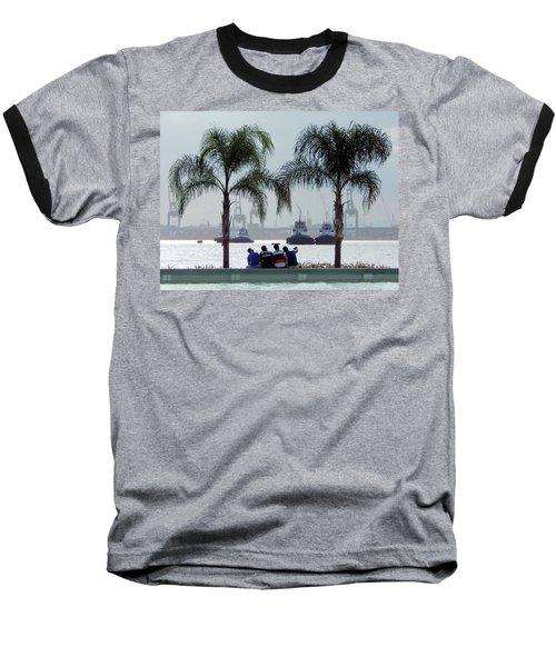 Selfie Us Baseball T-Shirt by Beto Machado