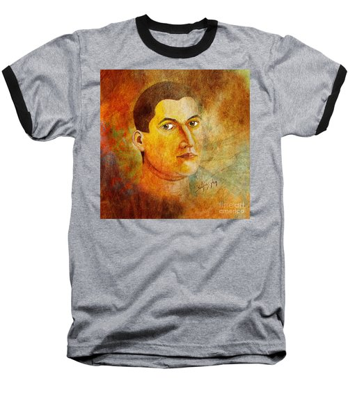 Baseball T-Shirt featuring the painting Selfportrait Oil by Alexa Szlavics