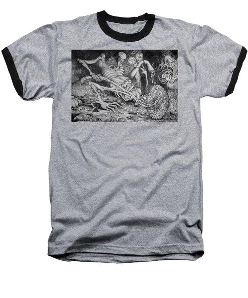 Selfpropelled Beastie Seeder Baseball T-Shirt