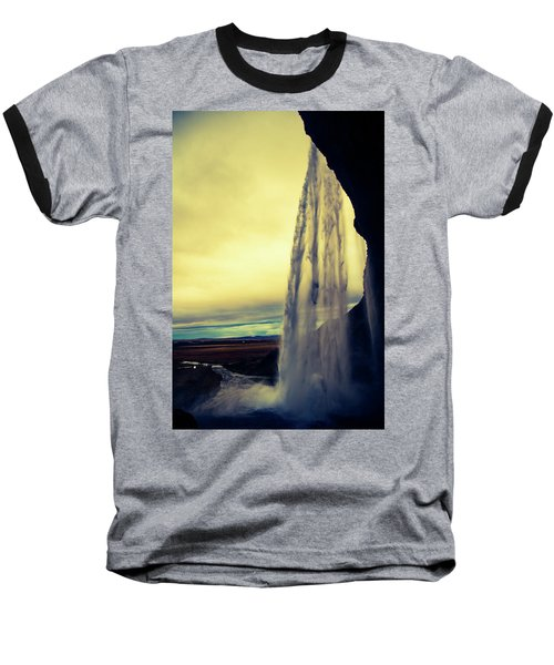 Seljalandsfoss Sunset Baseball T-Shirt