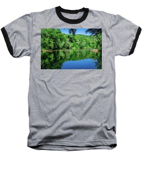 Semi Placid Stream Baseball T-Shirt