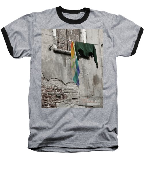 Baseball T-Shirt featuring the photograph Semplicita - Venice by Tom Cameron