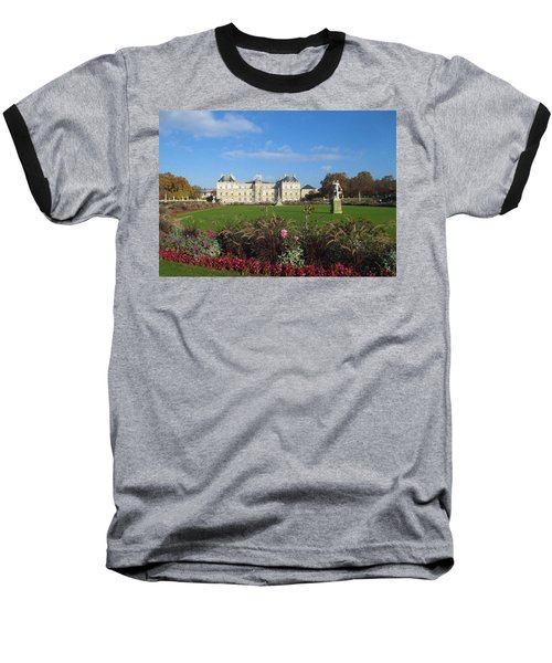 Baseball T-Shirt featuring the photograph Senate From Jardin Du Luxembourg by Christopher Kirby