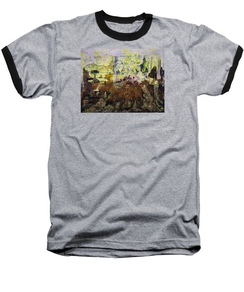 Baseball T-Shirt featuring the painting Senegambia by Ron Richard Baviello