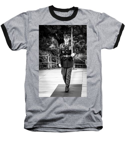 Baseball T-Shirt featuring the photograph Sentinel At The Tomb Of The Unknowns by David Morefield
