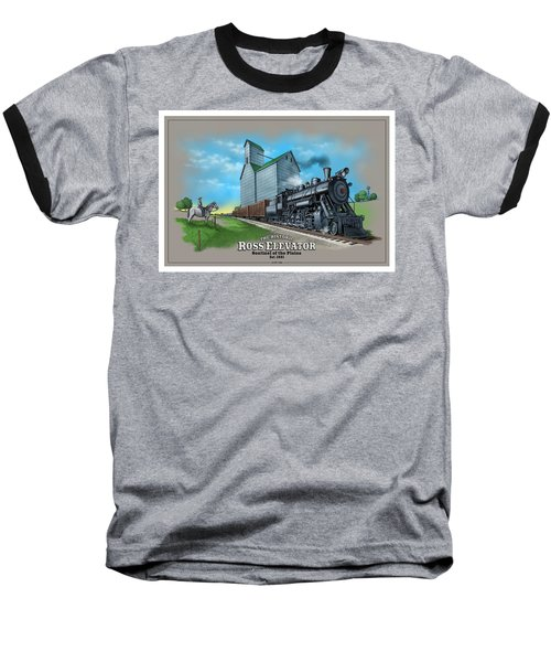 The Ross Elevator Sentinel Of The Plains Baseball T-Shirt by Scott Ross