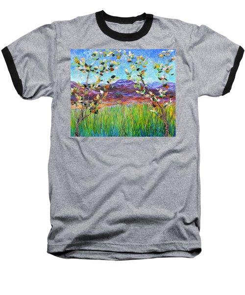 Sentries Diptych Baseball T-Shirt by Regina Valluzzi