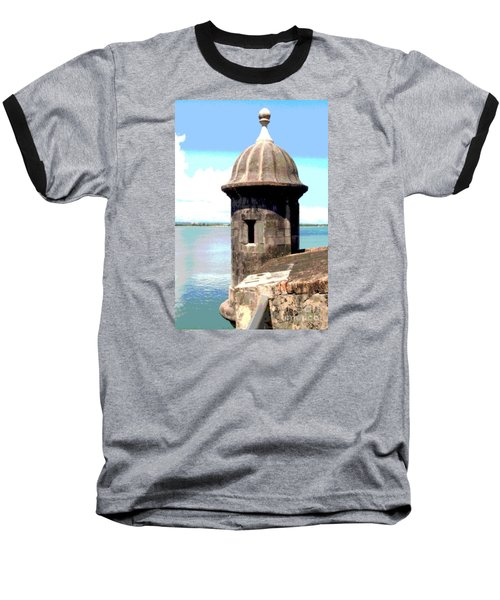 Sentry Box In El Morro Baseball T-Shirt by The Art of Alice Terrill