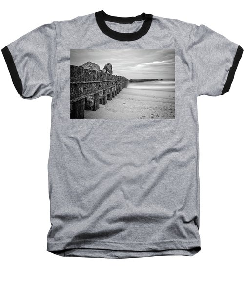 Baseball T-Shirt featuring the photograph Separation Monochrome by Alan Raasch