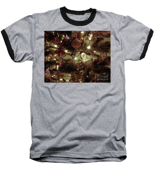 Sepia Christmas Tree Baseball T-Shirt