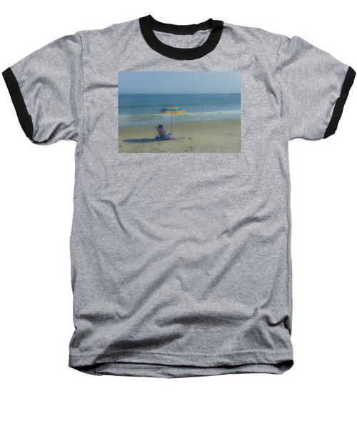 September Beach Reader Baseball T-Shirt