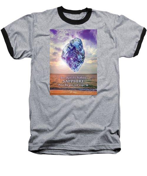 September Birthstone Sapphire Baseball T-Shirt